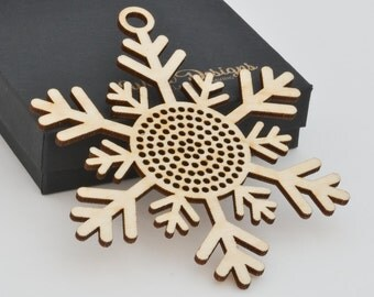 Cross Stitch Snowflake Ornament - Stitchable Christmas Tree Decoration BSOS01-01