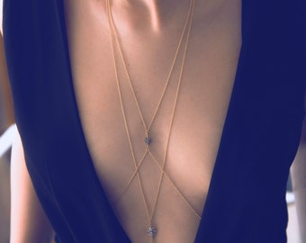 Chain Body Harness   Gold Layered Body Chain   Rose Gold Waist Belly Chain   Spring Break-Festival-Prom Jewelry   Gift For Her