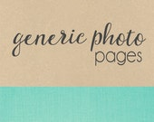 GENERIC PHOTO PAGES // baby book, baby gift, add on page, baby keepsake