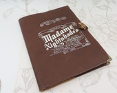 "Faux leatherbook Journal note""madame nightshade""heart steampunk brown"