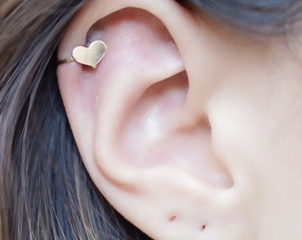 Gold Filled Small Heart Ear Cuff