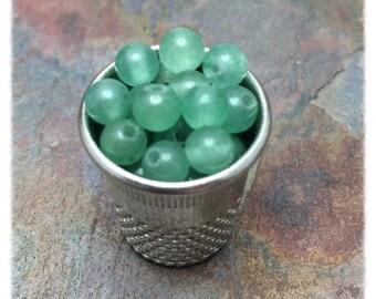 Green Aventurine 4mm Gemstone Round Beads