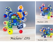 Color Pop Oyster -  Modern Art Glass - Lampwork - Focal Bead - Unique, Statement Designs by Michou P. Anderson