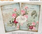 30% OFF SALE - CARDS Sweet Romance set1 - Digital Collage Sheet - Scrapbooking - Vintage Cards - Digital Collage Images - Digital printables