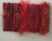 ice yarns samples fiber art bundle cards RED angelo condor eyelash crystal polar metallic lurex blend scrapbooking supplies doll clothes