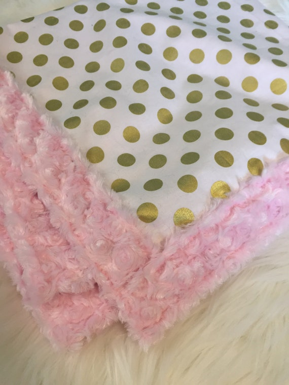 Minky Baby Blanket YOU pick fabrics