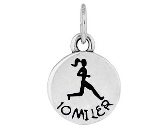 10 Miler Charm or Necklace- Gift for a Runner