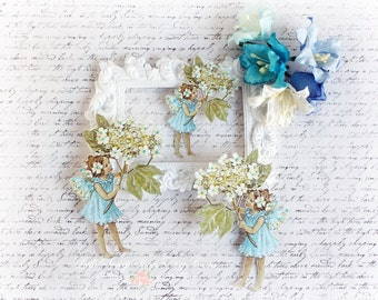 Summer Fairy Die Cut Embellishments  for Scrapbooking, Cardmaking, Mixed Media, Altered Art, Tag Art
