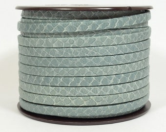 5mm Egyptian Flat Leather - Cool Grey - Choose Your Length