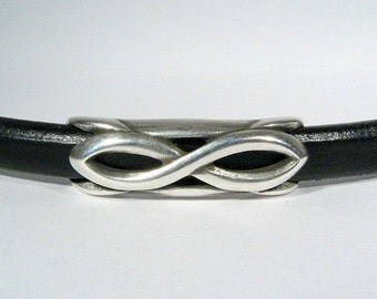 Infinity Spacers for Regaliz Leather - Antique Silver - SP579 - Choose Your Quantity