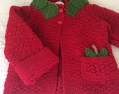Apple Delight Cardigan ready to ship today in size 4 or made to order in many sizes