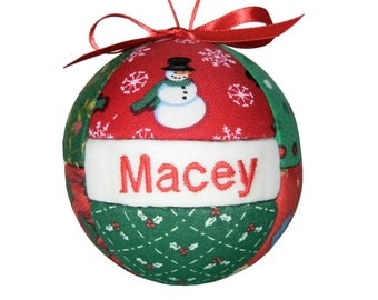 Personalized Christmas Ornament Ready To Ship by CraftCrazy4U