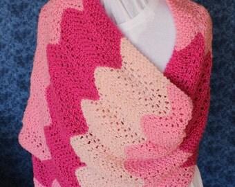 Knitting Pattern, Pattern for Knit Prayer Shawl, Gradient Colors Pattern, Rectangle Knit Shawl Patterns, Gift to Knit, Summer Knit Pattern
