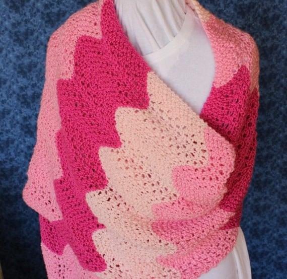 Knitting Patterns For Prayer Shawls : Knitting Pattern Pattern for Knit Prayer Shawl by KimberleesKorner
