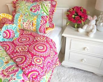 Twin Big Girl Comforters, Reversible Twin Bedding for Girls, Big Girl Bedding, Children's Bedding, Comforters Twin, Full/Queen, King