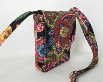 Mini Mini Hipster Smart Phone Case Adjustable Strap Floral Multi Black