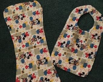 Bib and burp cloth set
