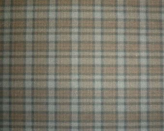 Outlander Doll Fabric Mini Tartan Plaid  Brown Gray