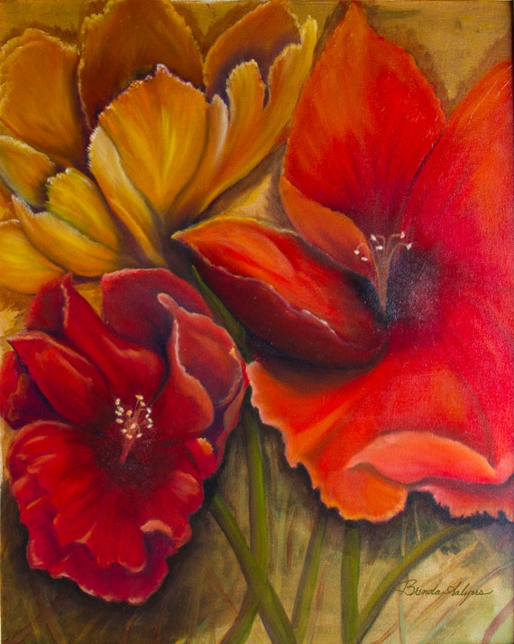 Big Red Hibiscus, Giclee Print on Fine Art Paper or Canvas