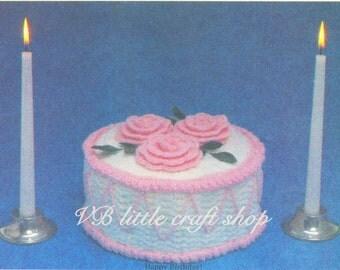 Verjaardag taart gehaakt patroon. Instant PDF download!