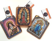 Christmas Retablo 3 Saint Retablos collection pick any 3 Saints great  family gift idea for any occasion