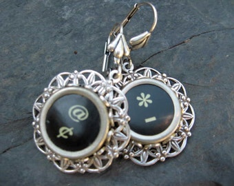 Typewriter Key Earrings -  No E423