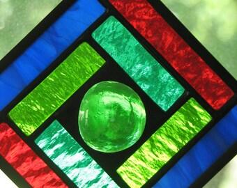 Jewel Tones 4x4 Square Suncatcher