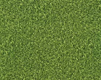 Robert Kaufman - Sports Life - Turf Grass Novelty Fabric by the yard  SRK1469747