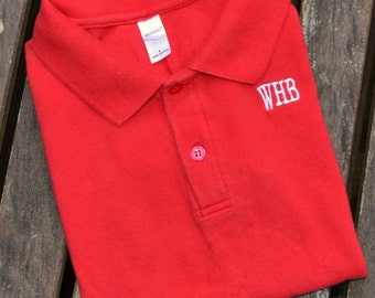 Monogrammed Polo for Boys - Red
