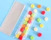 """Mini Cellophane Bags, 2x6"""" Cellophane Bags, Clear Candy Bags, Party Favor Bags, Valentines Day Candy Bags, Candy Buffet Bags, Cello Bags"""