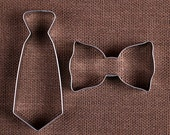 Tie Cookie Cutters Set: Bow Tie Cookie Cutter, Tie Cookie Cutter, Father's Day Cookie Cutters, Baby Shower Cookie Cutters, Biscuit Cutters