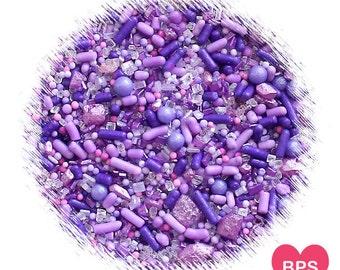 Sprinklefetti Purple Sprinkles Mix, Ombre Purple Sprinkles, Sparkling Sugar, Mini Sugar Pearls, Nonpareil, Cake Sprinkles, Cupcake Sprinkles