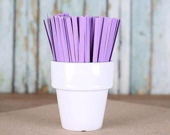 Light Purple Paper Twist Ties, Purple Twist Ties, Purple Cellophane Bag Ties, Purple Party Favors, Candy Buffet Ties (100)