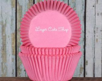 Light Pink Cupcake Liners, Pastel Pink Cupcake Liners, Pink Baby Shower Cupcake Liners, Light Pink Wedding Cupcake Liners (50)