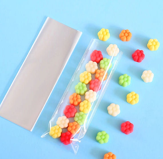 mini cellophane bags 2x6 cellophane bags clear candy bags party