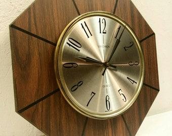 Mid Century Verichron Wall Clock