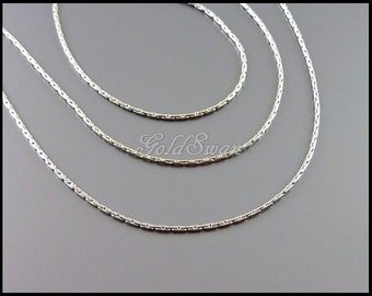 1 meter dainty and delicate silver 0.8mm snake chain, snake necklace chain, bracelet chain B141-BR