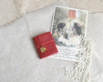 Tiny Red Leather Love Book