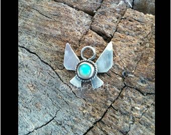 Sterling Silver Legend of Zelda Inspired Navi Fairy Necklace with Choice of Stone