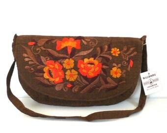 Vintage Embroidered Bag // Walborg India NOS