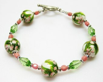 RESERVED for Donna Lily of the Valley Bracelet