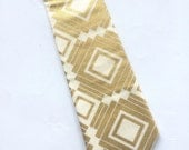 Little Guy Holiday NECKTIE Tie - Gold Squares - (2T-4T) - Boy Toddler - (Ready to Ship) Christmas
