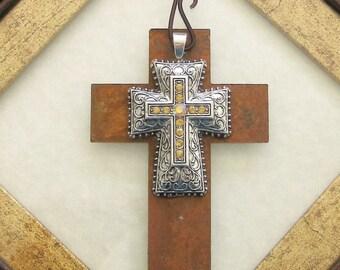 Large Cross Ornament, Rhinestone Cross Ornament, Crosses, Ornaments, Christian Cross Ornament, Religious Gift, Easter Gift, Cross Decoration