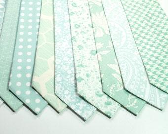 Mint Neckties Wedding Neckties Emerald Green Neckties Custom Neckties Mens Neckties