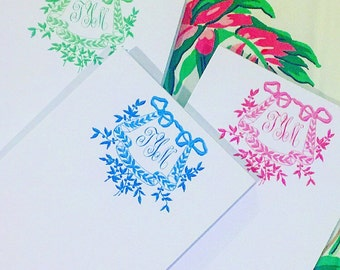 Floral Monogram Notepads