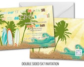 Retro Surf Invite (5x7 digital file)
