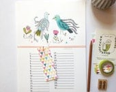 Perpetual CALENDAR, birthdays calendar, remember the birthdays dates, illustrated calendar - size A4 = 21 x29, 7 cm