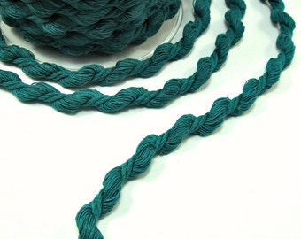 """Teal soft twisted cord, """"S"""" cord, 2m"""