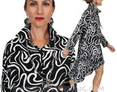 SunHeart High Low Matisse Shirt Boho Hippie Chic one size Sml Med Large xl 1x 2x 4x 5x