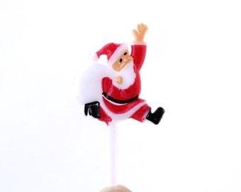 Santa Cupcake Toppers, Santa Claus Cupcake Picks, Christmas Cupcake Toppers (12)